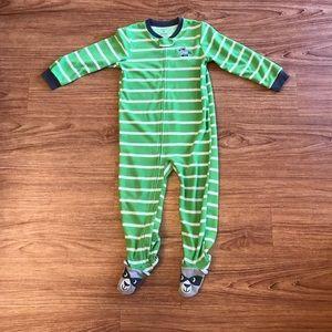 Carter's 4T Raccoon Footed Fleece Zip Up Pajama